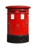 красный цвет столба коробки великобританский Стоковое Фото