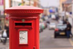 красный цвет столба коробки Стоковая Фотография