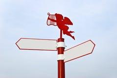 красный цвет столба направляющего выступа Стоковое Изображение