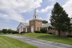красный цвет страны церков кирпича Стоковое фото RF