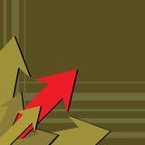 красный цвет стрелки Стоковое фото RF