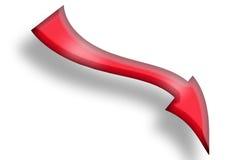 красный цвет стрелки Стоковое Фото