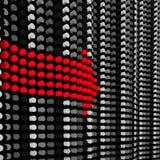 красный цвет стрелки Стоковые Фото