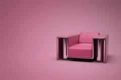 красный цвет стула кожаный пурпуровый Стоковое фото RF