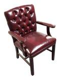красный цвет стула кожаный Стоковое Фото