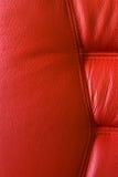 красный цвет стула кожаный Стоковые Фотографии RF