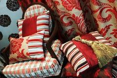 красный цвет стула роскошный Стоковое Изображение