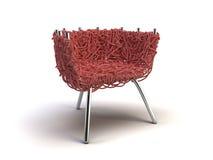 красный цвет стула самомоднейший иллюстрация штока