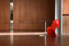 красный цвет стула Стоковые Изображения RF
