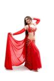 красный цвет танцора живота Стоковое Изображение RF