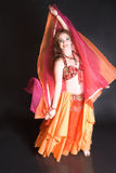 красный цвет танцора живота Стоковое Фото