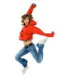 красный цвет танцульки воздуха Стоковые Изображения RF