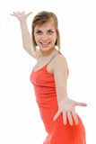 красный цвет танцульки Стоковые Изображения