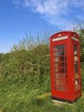 красный цвет телефона Англии будочки Стоковая Фотография RF