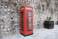 красный цвет телефона будочки Стоковые Изображения