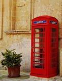красный цвет телефона коробки Стоковое Изображение
