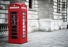 красный цвет телефона коробки Стоковая Фотография RF