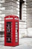красный цвет телефона коробки Стоковая Фотография
