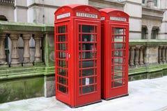 красный цвет телефона Стоковая Фотография RF