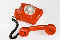 красный цвет телефона Стоковые Фотографии RF