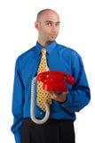 красный цвет телефона Стоковое Изображение RF