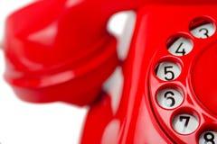 красный цвет телефона Стоковые Фото