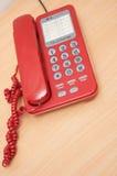 красный цвет телефона Стоковое Изображение