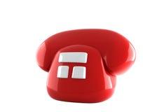 красный цвет телефона Стоковое Фото