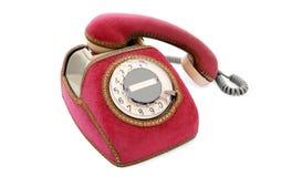 красный цвет телефона Стоковые Изображения