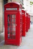 красный цвет телефона london будочки типичный Стоковое Фото