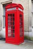 красный цвет телефона london будочки типичный Стоковая Фотография