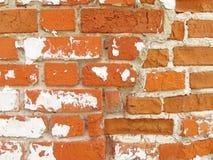 Красный цвет, терракота и белая предпосылка кирпича Старая стена красного Bric Стоковые Изображения RF
