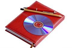 красный цвет тетради Стоковые Фотографии RF