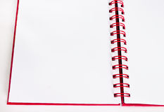 Красный цвет тетради Стоковое Изображение RF