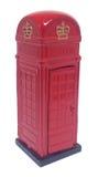 красный цвет телефона будочки великобританский Стоковые Фотографии RF