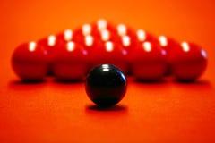 красный цвет ткани биллиарда шариков Стоковое Фото