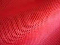 красный цвет ткани детали Стоковое Изображение