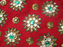 красный цвет ткани конструктора Стоковое Фото