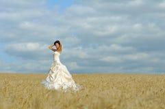 красный цвет ткани невесты шикарный Стоковое Изображение RF