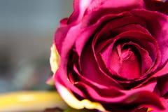 красный цвет ткани ручной работы поднял Стоковое Изображение