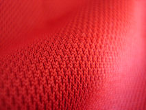 красный цвет ткани Стоковая Фотография