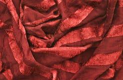 красный цвет ткани Стоковое фото RF