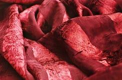 красный цвет ткани Стоковые Изображения RF