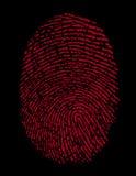 красный цвет тождественности фингерпринта злодеяния Стоковые Изображения RF