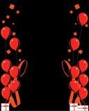 красный цвет торжества воздушного шара backg Стоковые Фото