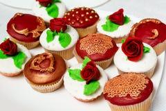 Красный цвет торта Стоковые Изображения