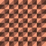 Красный цвет треугольника полигона вектора картины безшовный Стоковые Изображения