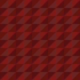 Красный цвет треугольника полигона вектора картины безшовный Стоковое Изображение RF