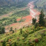 Красный цвет трясет ландшафт долины Стоковые Изображения RF