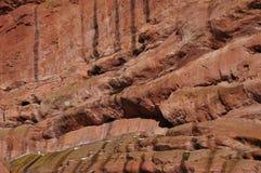 Красный цвет трясет геологохимическое образование Стоковые Фото